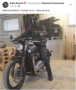 motociklu piegade